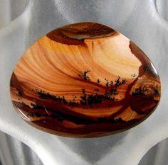 Royal Sahara Picture Jasper Cabochon30x24x4.7mm by stonesinmotion