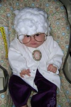 baby dressed as Sophia from the Golden Girls