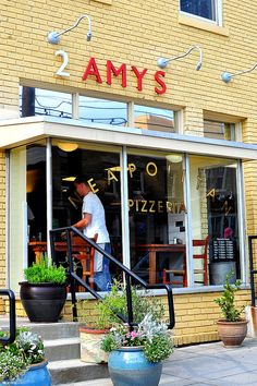 2 Amys | Washington D.C. This Pizza is the closest you will come to eating in Italy! They are registered with the Italian D.O.C. to be able to make their pizza authentic.