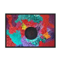Bartos Art Framed Poster: BLACK SUN, Create a unique and personalized Ambiance in your Home and Office Timeless Beauty, Framed Art, Create Your Own, Original Paintings, Kids Rugs, Simple, Artwork, Etsy, Decor
