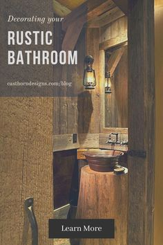 "There are many decorating styles for bathrooms. One very popular style today is the rustic bathroom. This designs brings the feeling of the outdoors as well as designs from the ""old west"". The point of these bathrooms is to make you feel cozy and closer to nature. Read more on our blog! Rustic Bathroom Decor, Rustic Decor, Closer To Nature, Old West, Your Space, Decor Styles, Bathrooms, Old Things, It Cast"