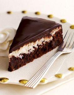chocolate almond coconut cake recipe by tish boyle Sweet Recipes, Cake Recipes, Dessert Recipes, Tortas Deli, Almond Coconut Cake, Almond Joy, Just Desserts, Delicious Desserts, Chocolate Desserts