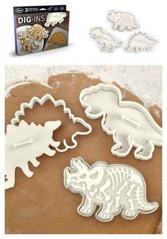 Set of 3 Dinosaur Cookie Cutter Stamp