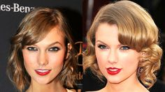 twins Karlie Kloss and Taylor Swift