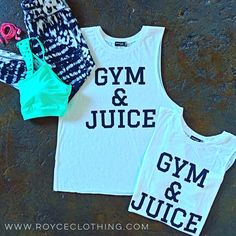 GYM&JUICE now on the site $19 free shipping  www.royceclothing.com #royceclothing #boutique