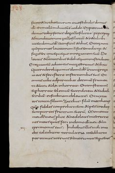 Defect: flaws in the parchment leaf.  Dated first third of 9th Century.  MS: Books of the Old Testament, containing annotation in the hand of Notker Balbulus († 912). (smu) Page 328. From St. Gallen, Stiftsbibliothek, Cod. Sang. 14, p. 328 – Bible (Job, Tob, Jdt, Est, I-II Esr)   Link: http://www.e-codices.unifr.ch/en/csg/0014/328/0/Sequence-232 Copyright: Stiftsbibliothek at the Abbey of St Gall, St. Gallen, Switzerland.   Licence:CC BY_NC 4.0 Int.