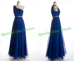 Royal Blue Prom dress One Shoulder prom dresses by SpecialDayDress, $128.00