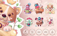 Pattern Illustration, Character Illustration, Promotional Banners, Cute Stickers, As You Like, Cartoon Characters, Design Bundles, Color Mixing, Product Launch