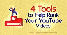 4 Tools to Help Rank Your YouTube Videos : Social Media Examiner https://www.socialmediaexaminer.com/4-tools-to-help-rank-youtube-videos/ #video #Youtube #tools