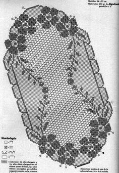 Kira scheme crochet: Scheme crochet no. Crochet Dollies, C2c Crochet, Crochet Chart, Crochet Stitches, Crochet Table Runner, Crochet Tablecloth, Doily Patterns, Crochet Patterns, Fillet Crochet