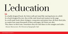 L'education font download