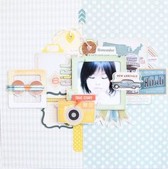 #papercraft #scrapbook #layout. girl by junojuno at @studio_calico open road crate paper