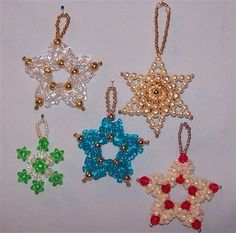 Image result for Mini Beaded Star Ornament Pattern