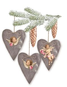 Tilda Winter Memories Velvet Hearts Material Kit - Tilda Books & Kits - Tilda Crafts - Sewing