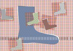 Jalkojen kokotaulukko | Kodin Kuvalehti Crochet Socks, Knitting Socks, Knit Crochet, Yarn Crafts, Diy Crafts, Mittens, Projects To Try, Slippers, Sewing