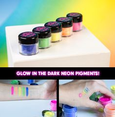 New Glow in the Dark Neon Pigments to Try