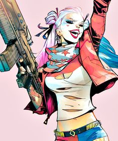 "pam-a-quinn: ""Harley by Scott Dalrymple "" Der Joker, Joker Und Harley Quinn, Harley Quinn Drawing, Harley Quinn Cosplay, Character Drawing, Character Design, Héros Dc Comics, Pamela Isley, Daddys Lil Monster"