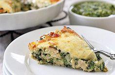 Tortilla pie de espinacas y pollo >>>> http://www.srecepty.es/tortilla-pie-de-espinaca-y-pollo
