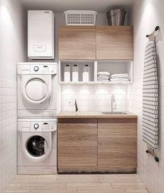 Modern Laundry Rooms, Modern Room, Modern Closet, Modern Living, Laundry Room Organization, Laundry Room Design, Design Kitchen, Laundry Storage, Closet Storage