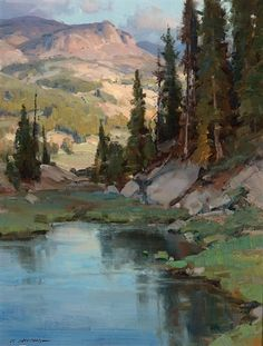 View Beartooth Pond by Clyde Aspevig on artnet. Browse upcoming and past auction lots by Clyde Aspevig. Watercolor Trees, Watercolor Landscape, Landscape Art, Landscape Paintings, Clyde Aspevig, Artist Painting, Pond Painting, Mountain Paintings, Traditional Paintings