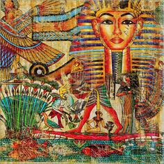Egyptian Paintings -- From a Society that believed in Healing through Sunlight and Colour.