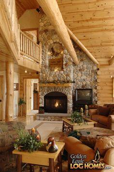 Log Cabin Homes from Golden Eagle Log and Timber Homes. Log Cabin Living, Log Cabin Homes, Log Cabins, Rustic Cabins, Design Hotel, House Design, Rustic Home Design, Cabin In The Woods, Timber House