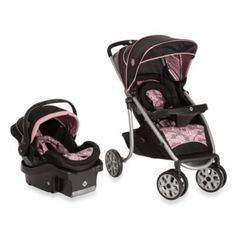 $269 bed bath and beyond  --so cute our fav Safet 1st® SleekRide™ LX Travel System in Vintange Romance - BedBathandBeyond.com