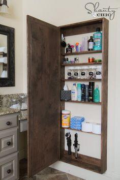 DIY (voir si plus simple à faire) mais bonne idée pour petite surface (salle de bain, cuisine)