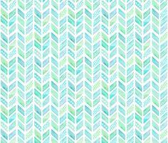 Watercolor Herringbone in Blue and Green fabric by emilysanford on Spoonflower - custom fabric Textures Patterns, Fabric Patterns, Print Patterns, Scrapbook Paper, Scrapbooking, Apple Watch Wallpaper, Blue And Green, Pattern Wallpaper, Aqua Wallpaper