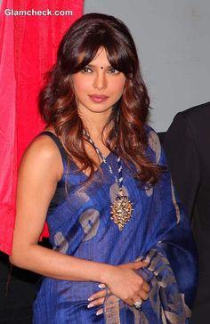 Priyanka Chopra in Sari Inaugurates Cancer Ward in Late Fathers Memory Priyanka Chopra Saree, Priyanka Chopra Images, Indian Bollywood Actress, Indian Film Actress, Indian Celebrities, India Beauty, Woman Crush, Indian Fashion, Beauty