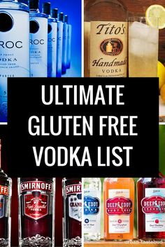 Gluten Free Vodka List and Guide