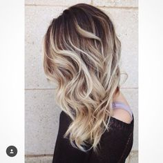 Brown roots with blonde hair