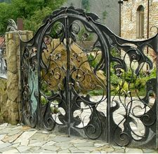 Wrought iron gate to a secret garden. Description from pinterest.com. I searched for this on bing.com/images