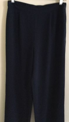 St John Collection by Marie Gray Knit Pants Navy Blue Size 8 | eBay