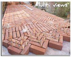 Terrasse en brique page 2 Multiviews BTP brickwalkway is part of Garden paving - Garden Paving, Garden Paths, Backyard Patio, Backyard Landscaping, Brick Path, Brick Design, Garden Projects, Outdoor Gardens, Garden Design