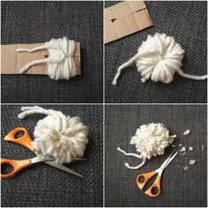 another easy and quick way of POM POM making with just a peace of cardboard - from calikatrina