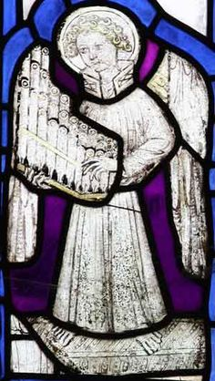 Angels in Stained Glass from Norfolk Medieval Churches