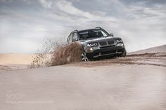 BMW x3 on sand by EduardPanichev Transportation Photography #InfluentialLime