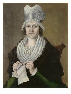 "Mrs. Eunecia Street Stebbins (1759-1817), 1805-1806 Reuben Mouthrop (1763-1814), American Oil on canvas under glass 30"" x 24"""