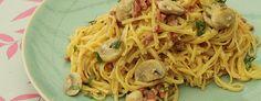 Pasta Carbonara met champignons