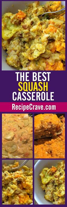 The Best Squash Casserole Recipe in the world! From RecipeCrave.com.
