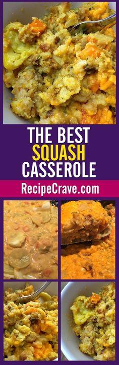 The Best Squash Casserole Recipe in the world! From RecipeCrave.com.