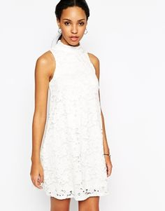 River Island Highneck Lace Swing Dress
