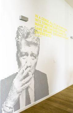 Wandgestaltung Hofmann & Voges by Sebastian Struch, via Behance