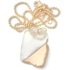 White Sea Glass Necklace