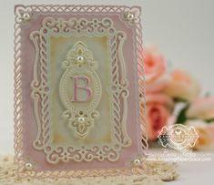 Becca Feeken (Amazing Paper Grace) - (Spellbinders) Valiant Honor Monogrammed Card