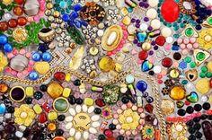 Bunte Glas-Mosaik Kunst und abstrakte Wand Hintergrund Stockfoto