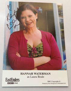Autograph EASTENDERS LAURA BEALE - HANNAH WATERMAN