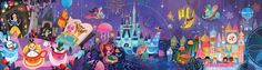 Joey Chou The Mural I did for Disney Tokyo Celebration Hotel, Here are some close ups Gifts: Christmas is coming Christmas or the . Disney Mural, Disney Artwork, Arte Disney, Disney Fan Art, Disney Love, Disney Magic, Disney Stuff, Lego Minecraft, Maleficent