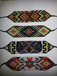 Native Beading Patterns, Bead Loom Patterns, Beaded Bracelets Tutorial, Bead Loom Bracelets, Jaime Garcia, Native American Beadwork, Bukowski, Loom Beading, Bead Art